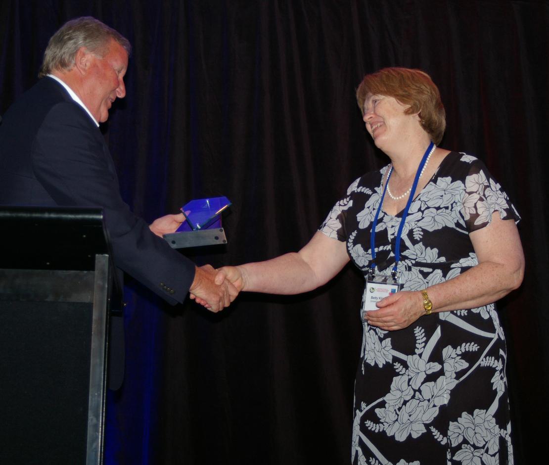 Betty 2010 MHFA Health Knowledge Dissemination Award