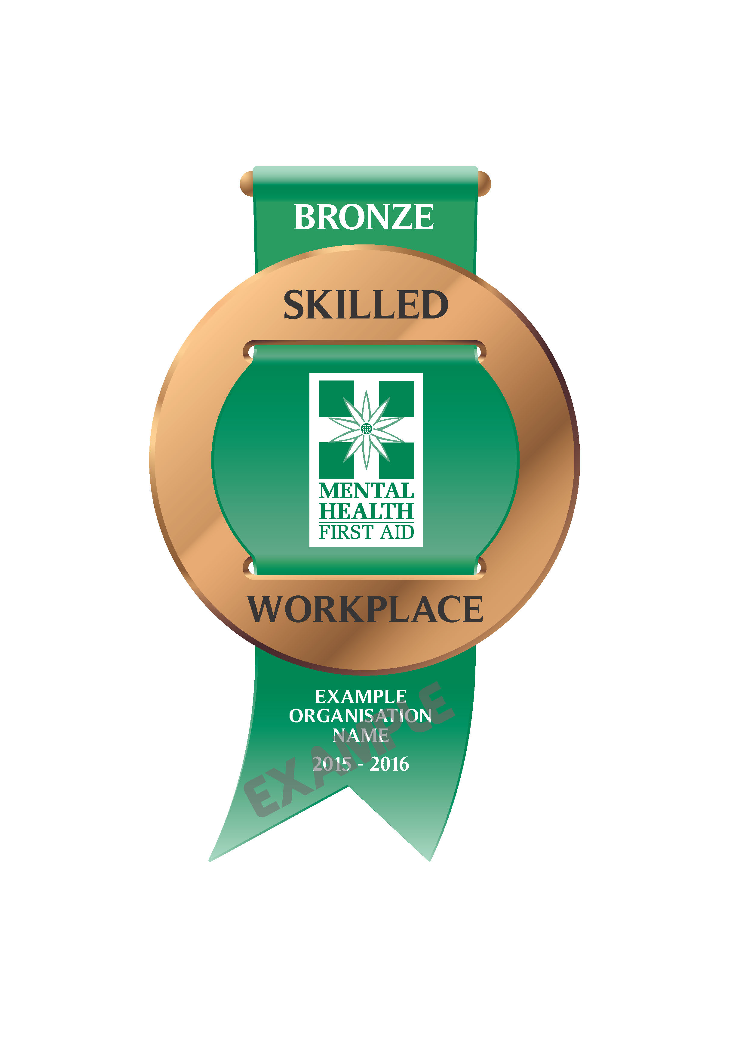 Bronze MHFA Skilled Workplaces Badge