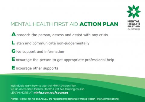 MHFA ALGEE Action Plan