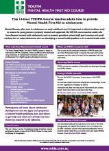 Downloads 14-hour Youth MHFA info sheet
