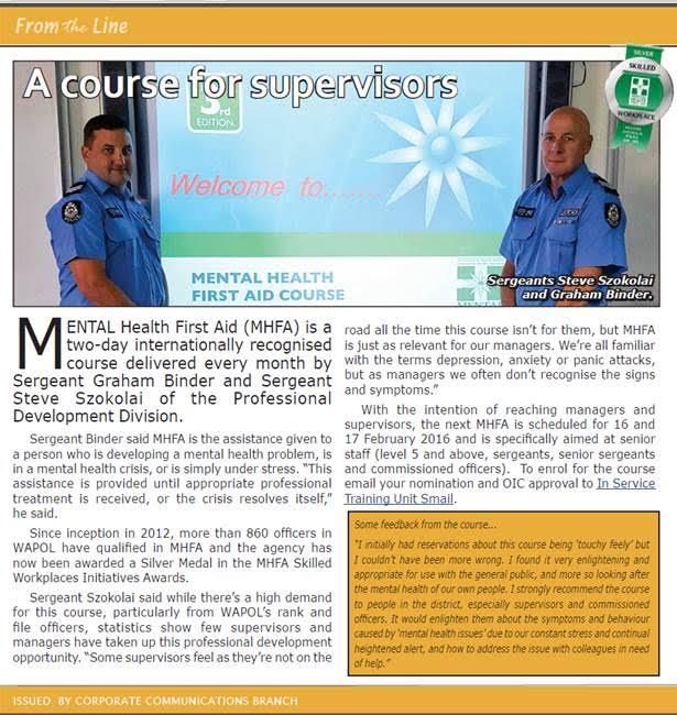 WA Police MHFA